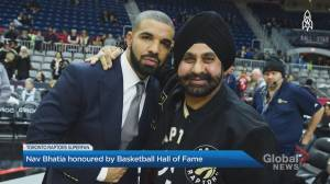 Raptors superfan Nav Bhatia receives honour from the Basketball Hall of Fame