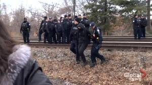 Toronto Wet'suwet'en solidarity protesters arrested by police at railway blockade
