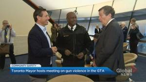 Mayor Tory hosts regional meeting on gun violence