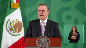 Mexico's foreign minister reacts to November opening of U.S. border (00:50)