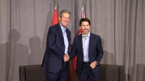 Justin Trudeau meets with Brian Pallister in Winnipeg