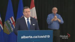 Kenney asks all workers in Alberta who can to work from home (00:33)