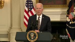 Biden signs executive order mandating review of U.S. supply chains for vital goods (01:12)