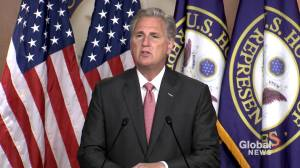U.S. election: House Minority Leader McCarthy congratulates GOP on Congressional victories (01:13)