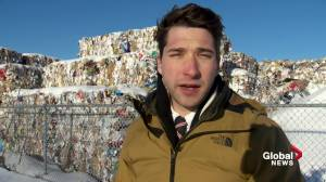 Material piles up at Montreal's recycling centre