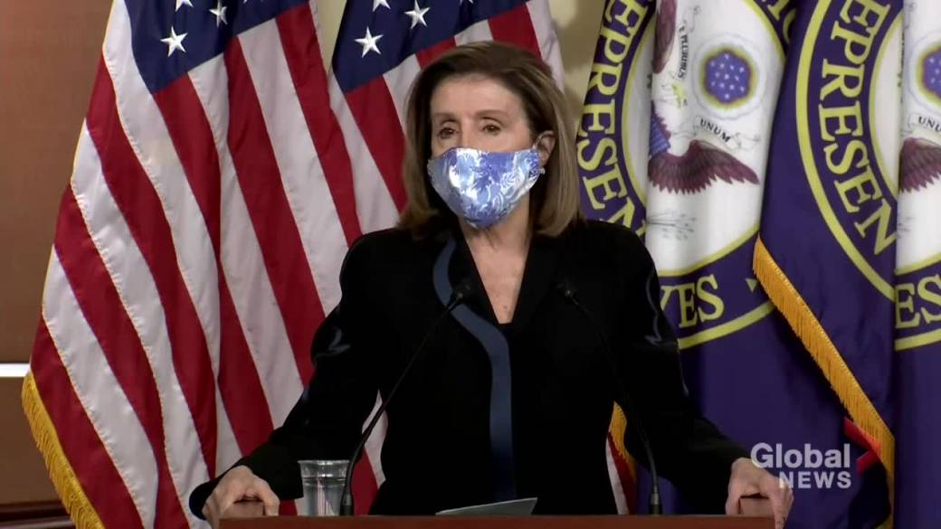 Click to play video 'Coronavirus: House Speaker Pelosi criticizes Republicans' response to pandemic as U.S. deals with second wave'