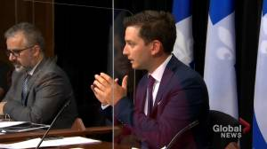 Quebec government lashes out at English Montreal School Board (01:47)