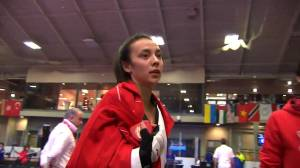 Winnipeg taekwondo champ Skylar Park reacts to postponement of the Olympics (01:10)