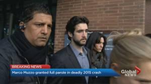 Drunk driver Marco Muzzo granted full parole (02:57)
