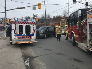 Pedestrian struck by pickup truck in Peterborough's north end