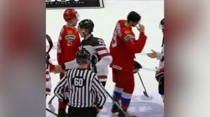 Canadian captain faces heat for not removing helmet during Russian anthem at World Juniors