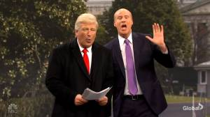 Will Ferrell appears as Gordon Sondland next to Baldwin's Trump in 'SNL' cold open (03:45)