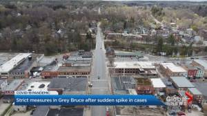 Grey Bruce Health Region declares critical threshold due to COVID-19 case spike (02:18)