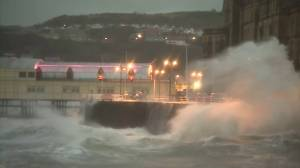 Winds and waves lash U.K. as Storm Ciara hits
