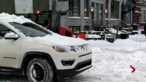 Montreal deals with first major snowfall of the season