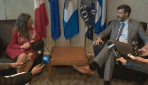 Chrystia Freeland meets with Edmonton Mayor Don Iveson