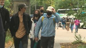 Students back at University of Alberta (01:29)