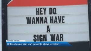 Hilarious 'war of words' in a small Ontario town goes viral (04:44)