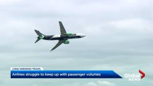 Airlines struggle to keep up with passenger volumes (02:18)