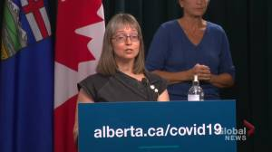 64% of Albertans fully immunized; Hinshaw says 2 COVID-19 vaccine doses critical as Delta variant spreads (00:39)
