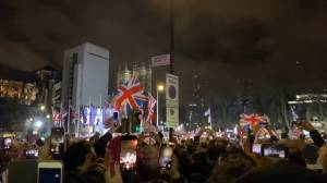 Brexit supporters sing 'We Are the Champions' before counting down to U.K. departure