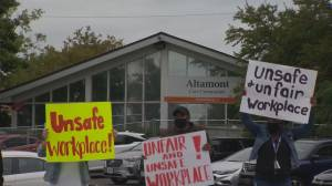 Scarborough nursing home workers protest staff reductions they fear make the facility unsafe