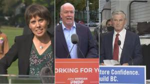 Decision BC: Three party leaders to debate Tuesday night (01:49)