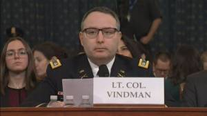 Trump impeachment hearings: Alexander Vindman opening statement