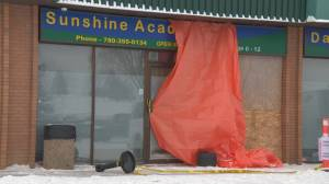 Vehicle crashes into front of south Edmonton daycare