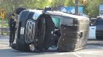 OPP forensic van rolls following collision east of Peterborough