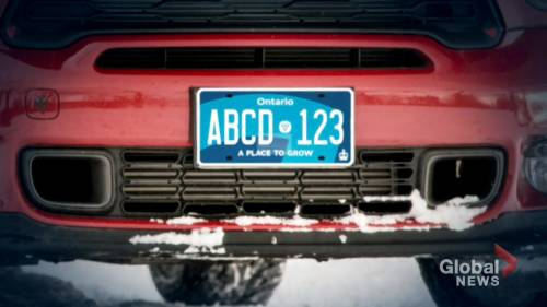 Province 'looking into' visibility concerns over new Ontario licence plates | Watch News Videos Online