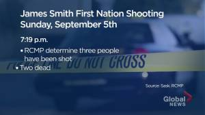 RCMP arrest suspect in James Smith Cree Nation shooting (01:35)