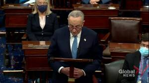 Sen. Schumer labels rioters who stormed Capitol buildings 'domestic terrorists' (01:36)