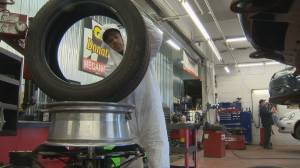 Montreal-area garages see early rush to install snow tires