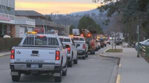 Parade of amber lights for health-care workers in Kelowna