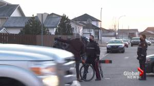 Lethbridge police peacefully resolve critical incident in west-side neighbourhood (01:09)