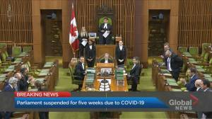 Parliament to shutter for 5 weeks to limit COVID-19 spread (01:37)