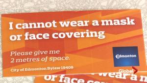Questions continue about city of Edmonton mask exemption cards