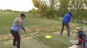 Golfers the lone Pronghorns in action this fall (01:52)