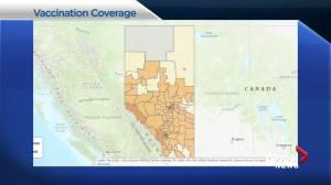 COVID-19 vaccination coverage inconsistent across Alberta (01:57)