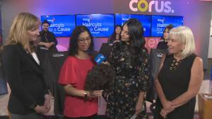 Emotional Sonia Sunger shares her inspiration behind hair donation event (03:19)