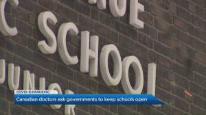 Doctors call on government officials to keep schools open (02:09)