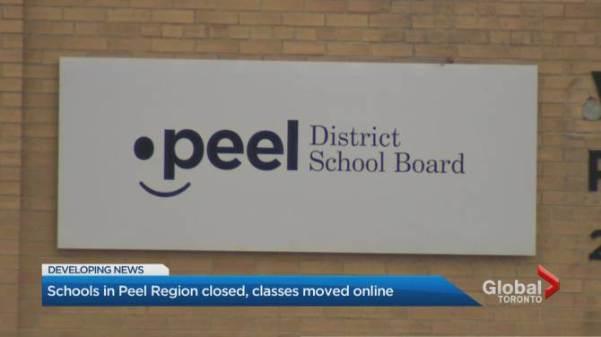 Click to play video: COVID-19: Schools in Peel Region shut down for 2 weeks