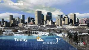 Edmonton early morning weather forecast: Wednesday, November 20, 2019
