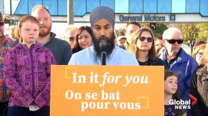 NDP Leader Jagmeet Singh discusses strategy for retaining jobs in auto industry