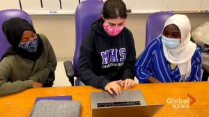 Moncton High School students publish a book to help students who are new to Canada with English learning (02:01)