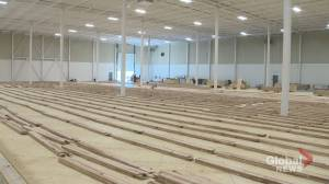 Edmonton Volleyball Pickleball Center under construction (02:39)