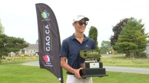 Ryan Tsang wins the Ontario Mid-Amateur golf championship (01:14)