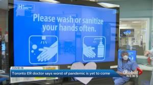 Toronto hospital ER chief warns worst of coronavirus pandemic has yet to pass (01:54)