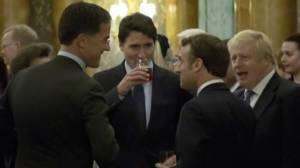 Trudeau, other leaders caught on camera 'mocking' Trump during NATO reception